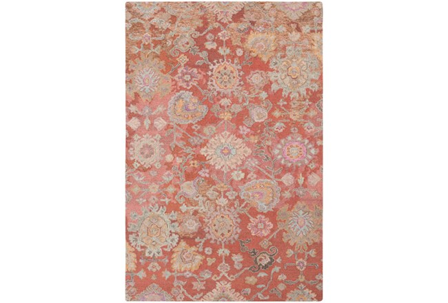 96X120 Rug-Centonze Traditional Coral - 360
