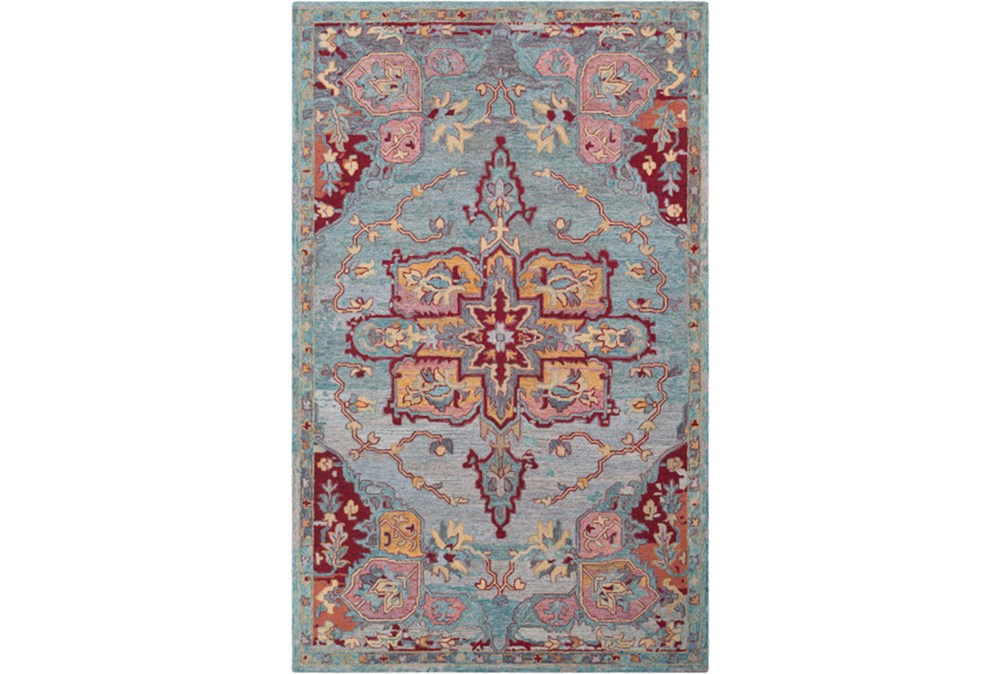 60X90 Rug-Centonze Traditional Red And Blue