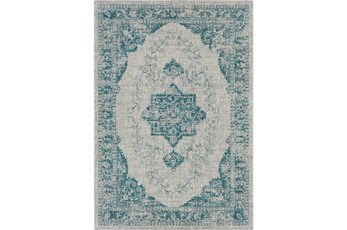24X36 Outdoor Rug-Regal Medallion Aqua