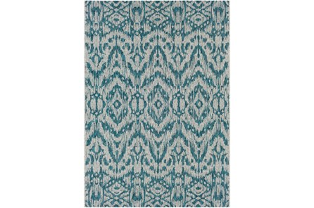 24X36 Outdoor Rug-Regal Ikat Aqua