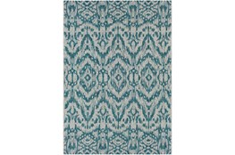 63X90 Outdoor Rug-Regal Ikat Aqua