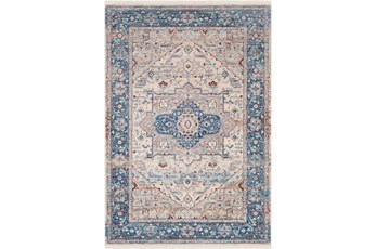 60X93 Rug-Tasha Traditional Blue