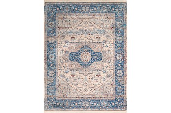 94X123 Rug-Tasha Traditional Blue