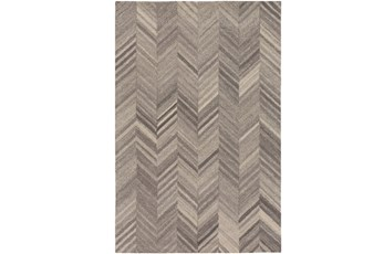60X90 Rug-Wool Tufted Chevron Grey Tones
