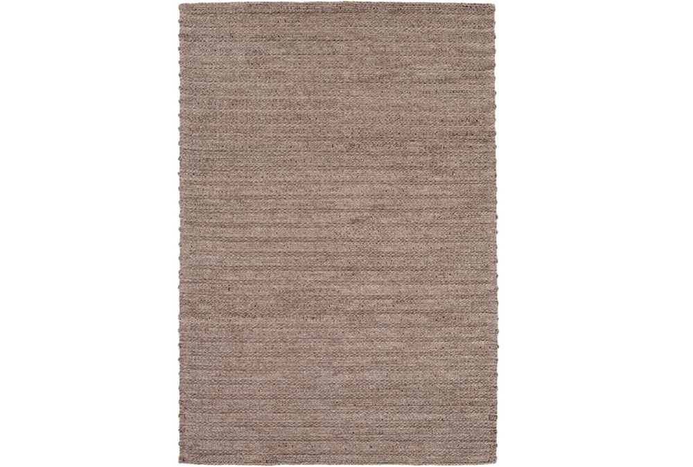 108X156 Rug-Braided Wool Blend Mushroom
