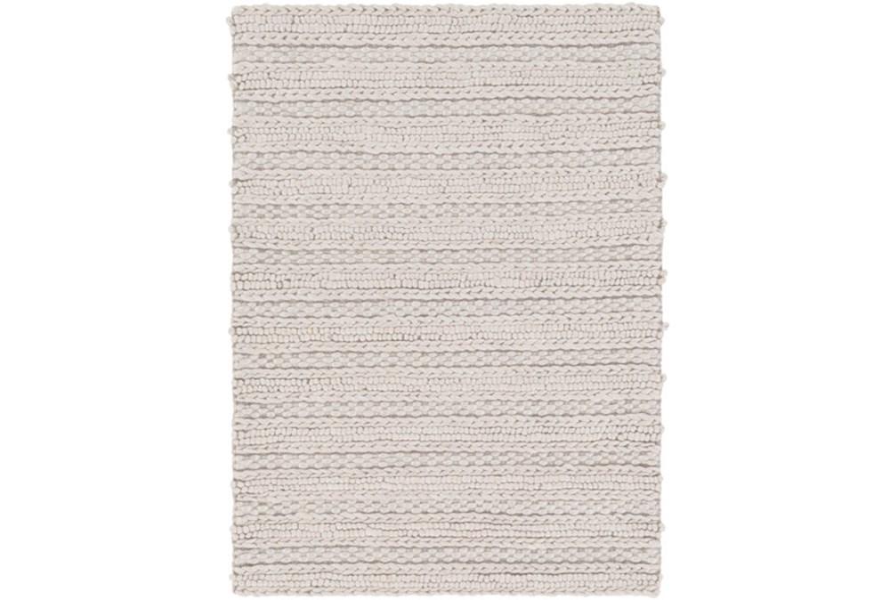 48X72 Rug-Braided Wool Blend Grey