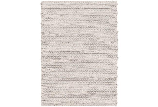 48X72 Rug-Braided Wool Blend Grey - 360