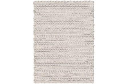 108X156 Rug-Braided Wool Blend Grey