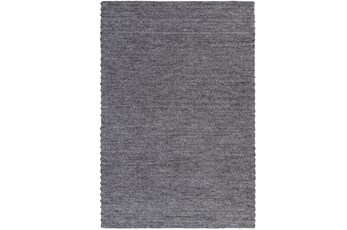 24X36 Rug-Braided Wool Blend Charcoal