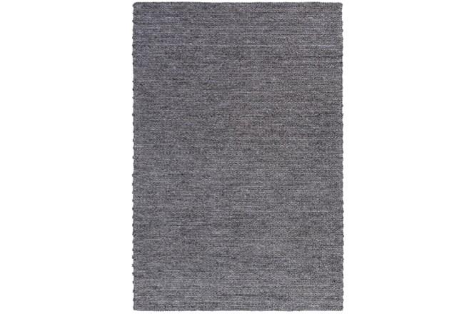 24X36 Rug-Braided Wool Blend Charcoal - 360