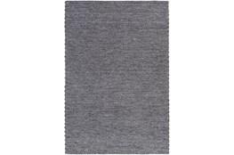 72X108 Rug-Braided Wool Blend Charcoal