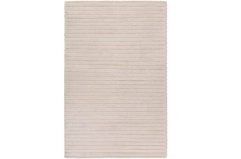 48X72 Rug-Braided Wool Blend Ivory