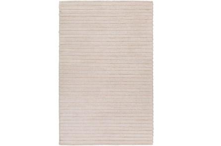 48X72 Rug-Braided Wool Blend Ivory