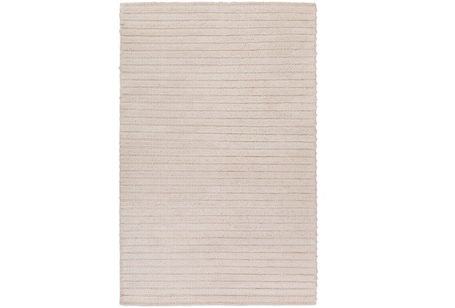 60X90 Rug-Braided Wool Blend Ivory - 360