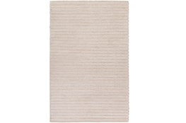 96X120 Rug-Braided Wool Blend Ivory