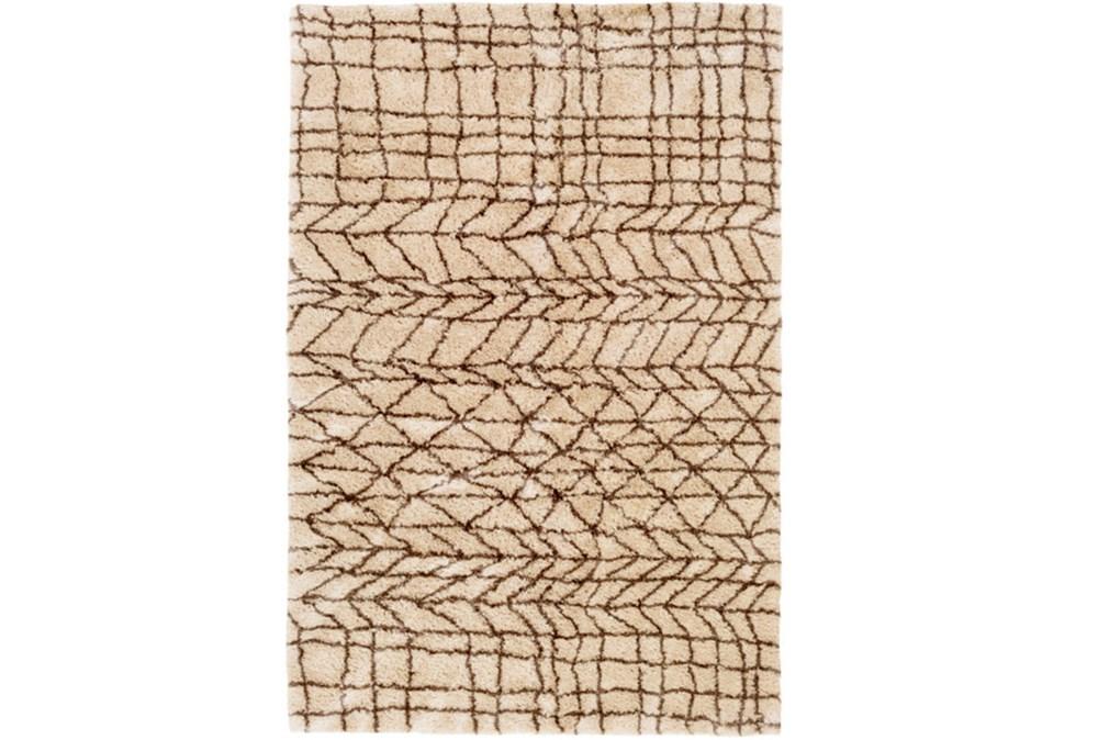 60X90 Rug-Plush Tribal Shag Khaki & Brown
