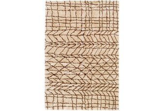 60X90 Rug-Plush Tribal Shag Khaki & Brown