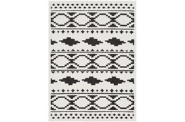 24X36 Rug-Graphic Tile Shag Black & White