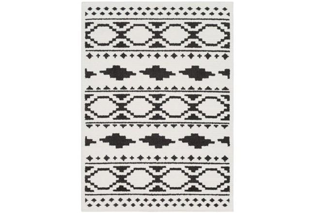 63X87 Rug-Graphic Tile Shag Black & White - 360