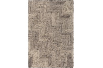 60X90 Rug-Wool Tufted Stair Step Grey Tones