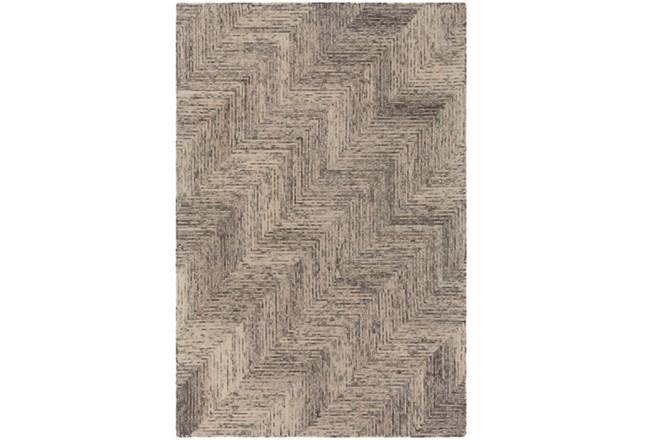 60X90 Rug-Wool Tufted Stair Step Grey Tones - 360