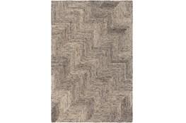 96X120 Rug-Wool Tufted Stair Step Grey Tones