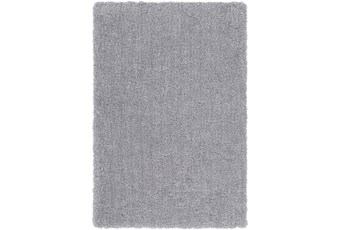 96X120 Rug-Plush Pile Light Grey