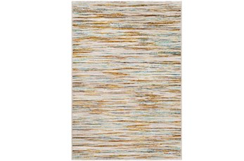 60X96 Rug-Static Sheen Orange And Blue
