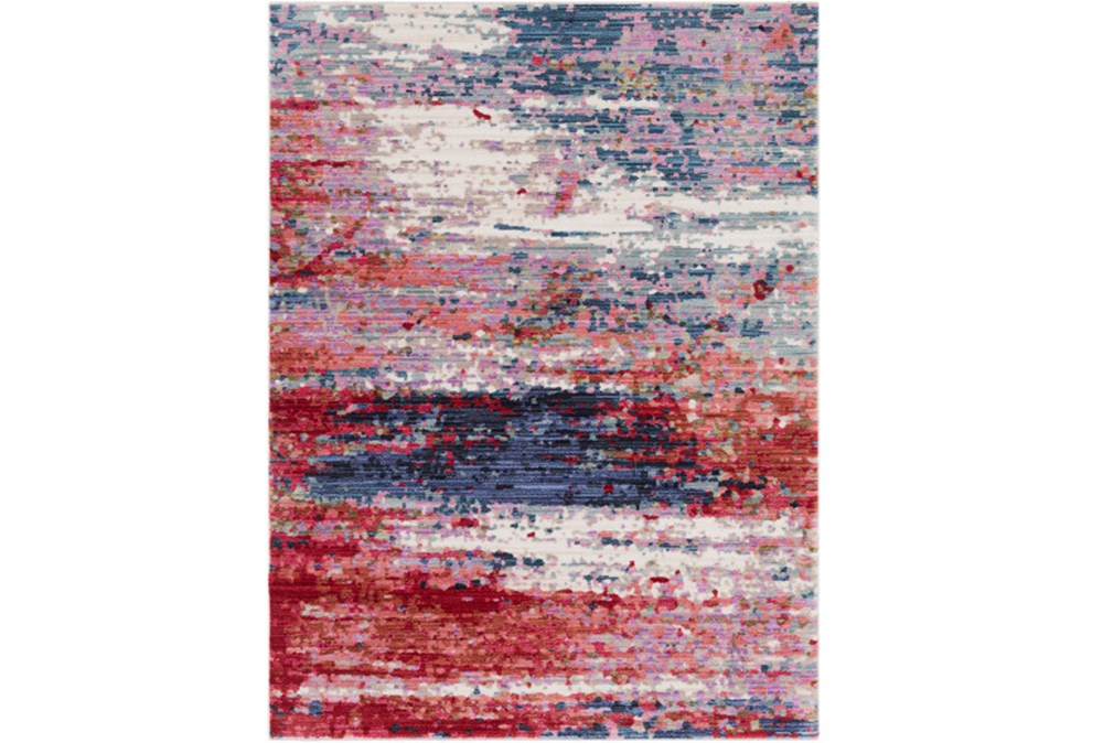 94X123 Rug-Cosmic Splash Red