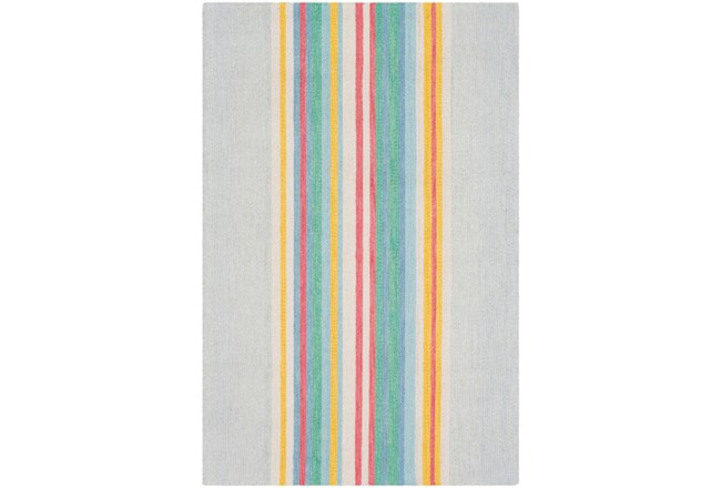 60X90 Rug-Wool Spring Stripe - 360