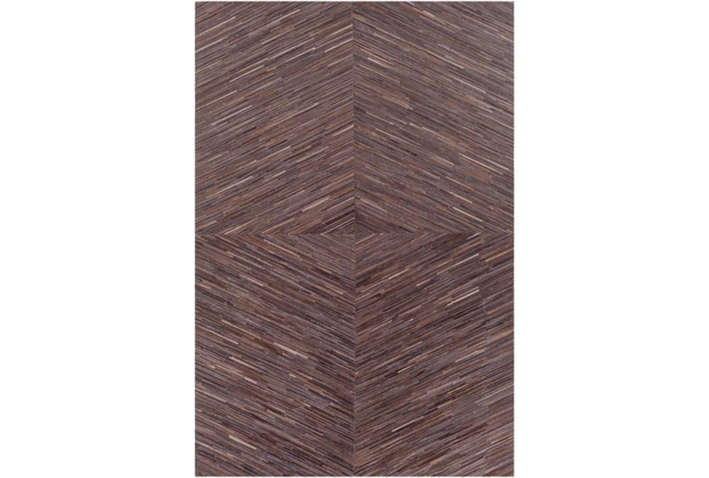 96X120 Rug-Diamond Hair On Hide Dark Brown