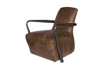Mocha Leather Lounge Chair