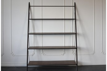 "Metal Frame 83"" Bookcase"