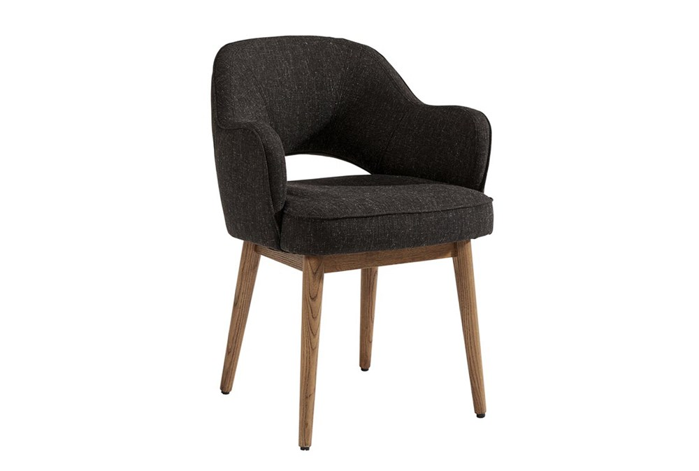 Magnolia Home Hamilton Charcoal Dining Side Chair By Joanna Gaines