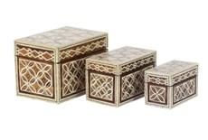 Set Of 3 Batik Boxes