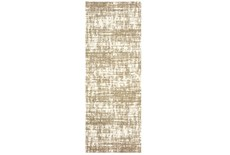 27X90 Rug-Distressed Soft Shag Ivory/Taupe