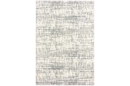 79X114 Rug-Distressed Soft Shag Ivory/Grey