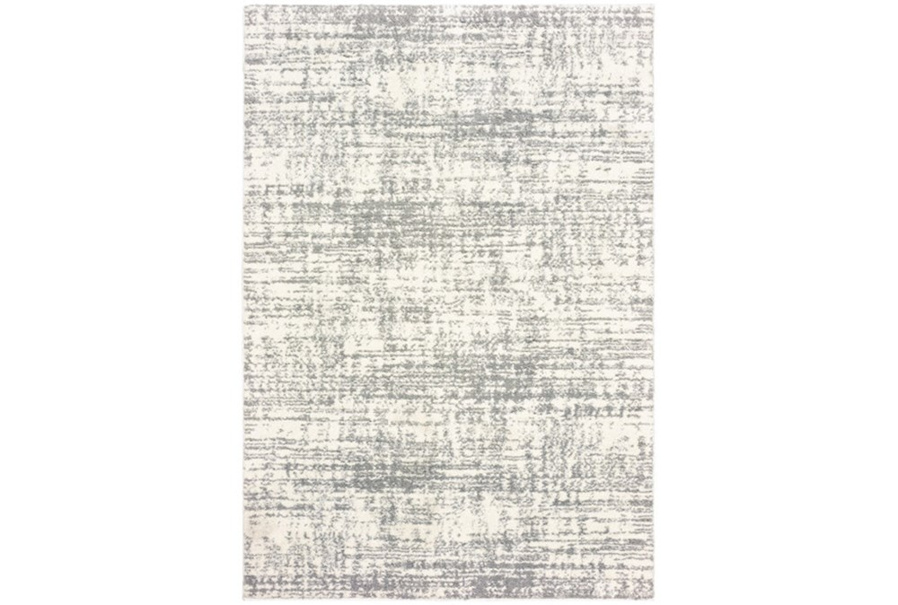 94X130 Rug-Distressed Soft Shag Ivory/Grey