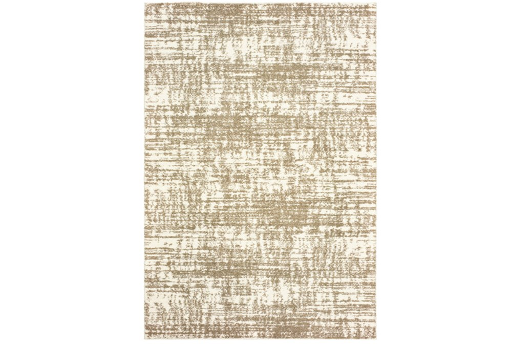 46X65 Rug-Distressed Soft Shag Ivory/Taupe