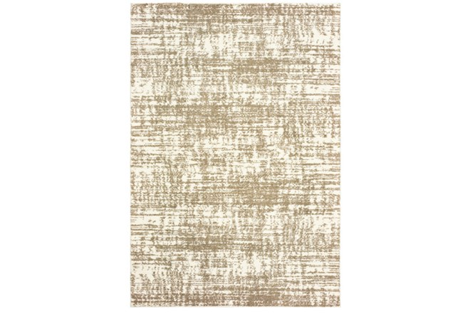 46X65 Rug-Distressed Soft Shag Ivory/Taupe - 360