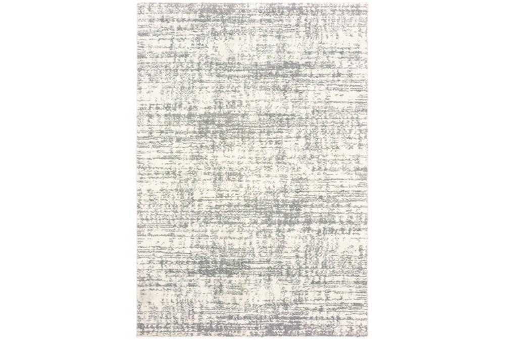 46X65 Rug-Distressed Soft Shag Ivory/Grey