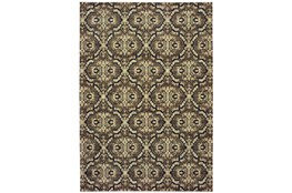 79X114 Rug-Moroccan Lattice Brown/Navy