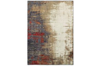 120X158 Rug-Marshall Charcoal And Red