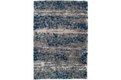 94X127 Rug-Speckeled Shag Cobalt/Grey