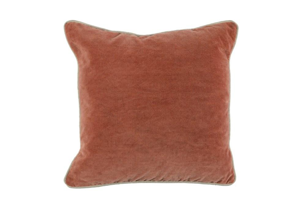 Accent Pillow-Terracotta Washed Velvet 18X18