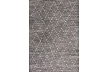 63X91 Rug-Farmhouse Diamonds Charcoal