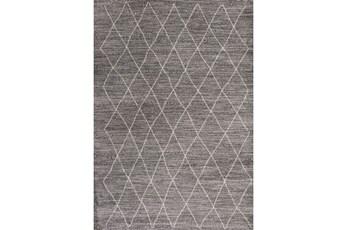 63X91 Rug-Farmhouse Diamonds Charcoal
