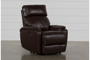 Connie Espresso Power Recliner With Power Headrest & Usb