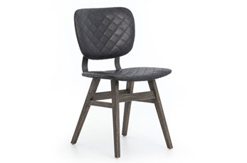 Quilted Black Dining Chair