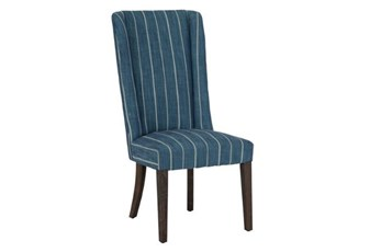 Blue Stripe Dining Chair